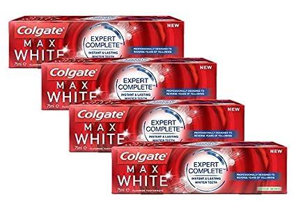 Colgate Max White Expert Complete Dentífrico, 75 ml, paquete de 4