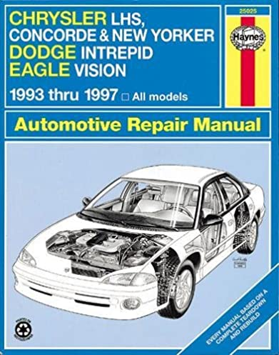chrysler lhs concorde new yorker dodge intrepid eagle vision rh amazon com 98 Dodge Intrepid Repair Manual 1997 Dodge Intrepid Problems
