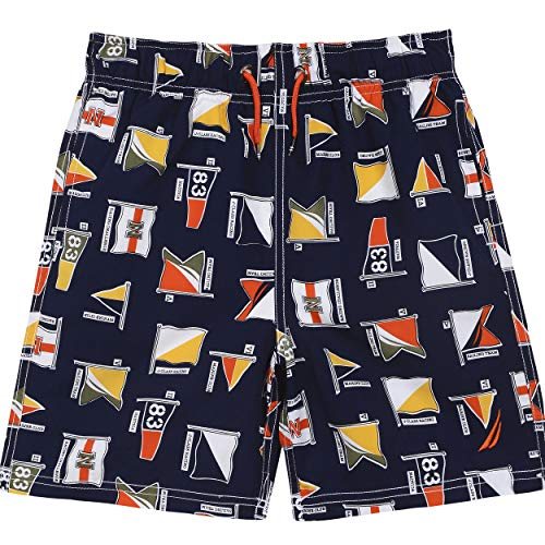 Nautica Big Boys' Swim Trunk with UPF 50+ Sun Protection, Tom Navy, Large ()