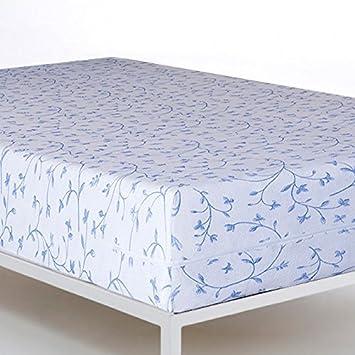 Funda colchón elástica Rizo Velfont -Tamaño fundas de colchón-135cm x 200cm,COLORES-azul: Amazon.es: Hogar