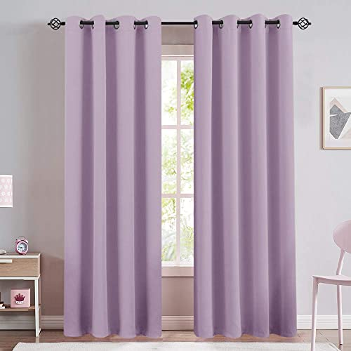Lilac Blackout Window Curtain