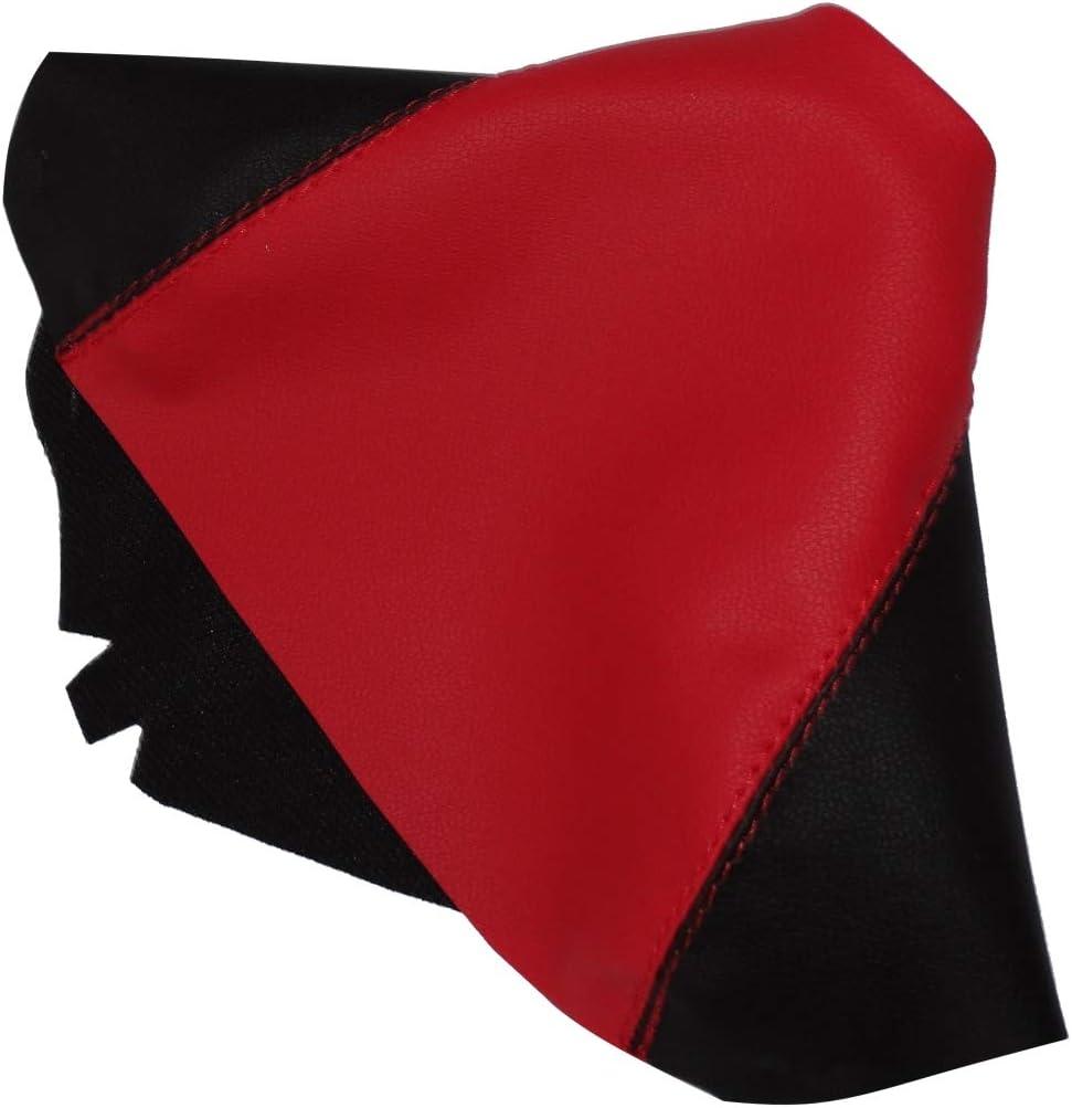 Schaltsack schaltmanschette kunstleder schwarz und rot AERZETIX