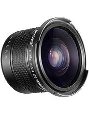 Neewer 52mm 0.35X Ojo de Pez Lente de Angulo Ancho con Parte de Primer Plano Macro para Nikon D7100 D7000 D5500 D5300 D5200 D5100 D3300 D3200 D3100 D3000 DSLR Cámaras