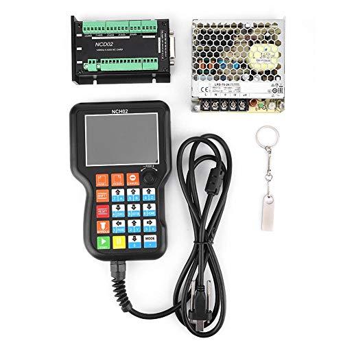 CNCコントローラー、NCH02 CNCモーションコントローラーシステムコントローラーボード+ 24Vスイッチング電源