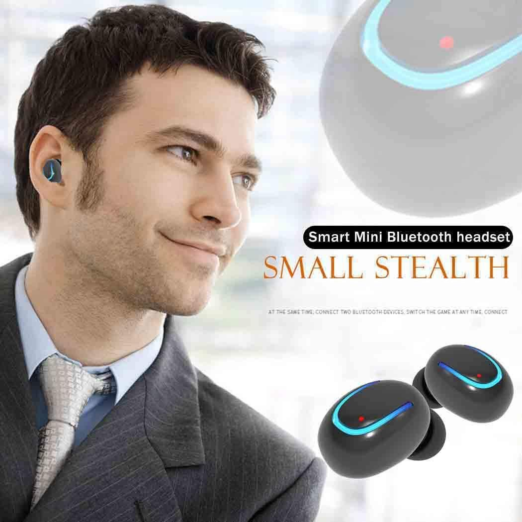 [Bulges] Wireless Headphones Noise Reduction HD Sound Quality Sporting One-Button Control Bluetooth V4.1 Headset in Ear Earbud