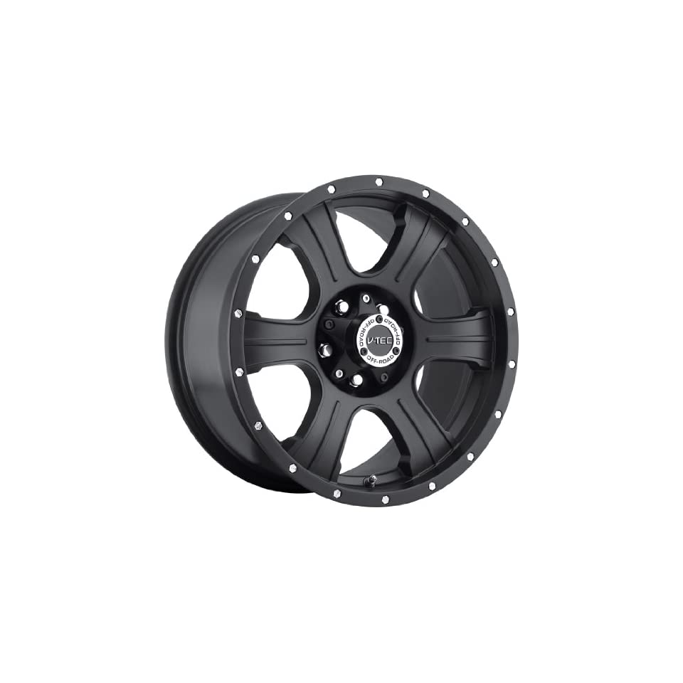 V Tec Assassin 16 Matte Black Wheel / Rim 8x6.5 with a  6mm Offset and a 125.2 Hub Bore. Partnumber 396 6881MB 6 Automotive