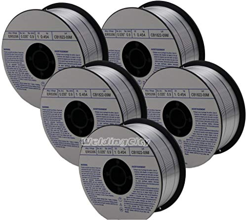 WeldingCity 5 Rolls of ER5356 Aluminum MIG Welding Wire 1-Lb Spool 0.035