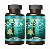 Seatrition 550mg Pure Seaweed Blend 2 bottles Veg capsules 12 Sea Vegetable Plants PLUS 1 btl Coral Calcium Supreme 1000mg 90ct Ocean Minerals Dietary Supplement