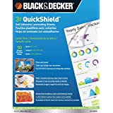 BLACK + DECKER QuickShield Self-Adhesive Letter Size Laminating Sheets, 3-mil, 50 Pack (LET-50SHSS)