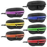 InnoLife Zipper Shell Sunglasses Case 7pcs in Mixed Colors wth. Belt Loop