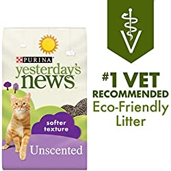 Purina Yesterday's News Non Clumping Paper Cat Litter; Softer Texture Unscented Cat Litter - 26.4 lb. Bag
