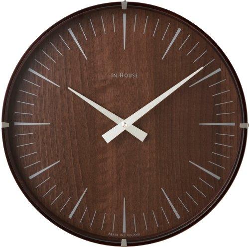 壁掛け時計 IN HOUSE ラミネートウォールクロック ウォールナット 44140054 B00C54XZ9C ウォールナット ウォールナット