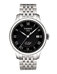 Tissot Automatic Black Dial with Stainless Steel Bracelet - Men's Watch T41.1.483.53