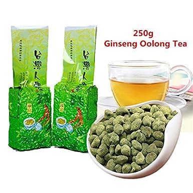 ¡Envío gratis! 250g (0.55LB) famoso té de Ginseng Oolong de la atención sanitaria de Taiwán, té chino del Ginseng, té largo de Wu verde Té oolong de ...