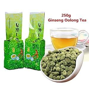 ¡Envío gratis! 250g (0.55LB) famoso té de Ginseng Oolong de la atención sanitaria de Taiwán, té chino del Ginseng, té largo de Wu verde Té ...