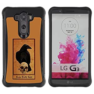 Suave TPU GEL Carcasa Funda Silicona Blando Estuche Caso de protección (para) LG G3 / CECELL Phone case / / Grim Reaper Brown Skull Raven Crow /