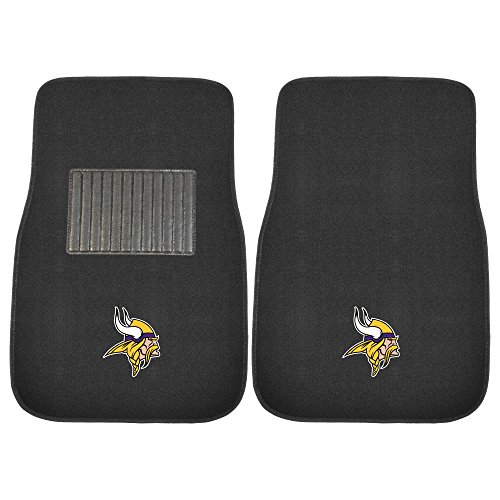 Fanmats 10753 NFL Minnesota Vikings 2-Piece Embroidered Car Mat by Fanmats