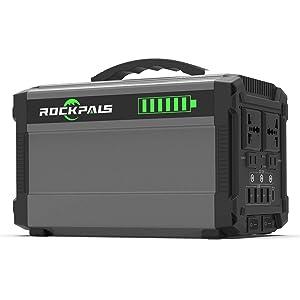 Rockpals G500 444Wh AC出力500W パススルー ポータブル電源