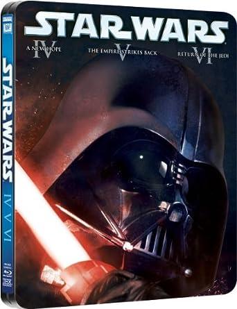 Amazon Com Star Wars The Original Trilogy Blu Ray Steelbook Movies Tv