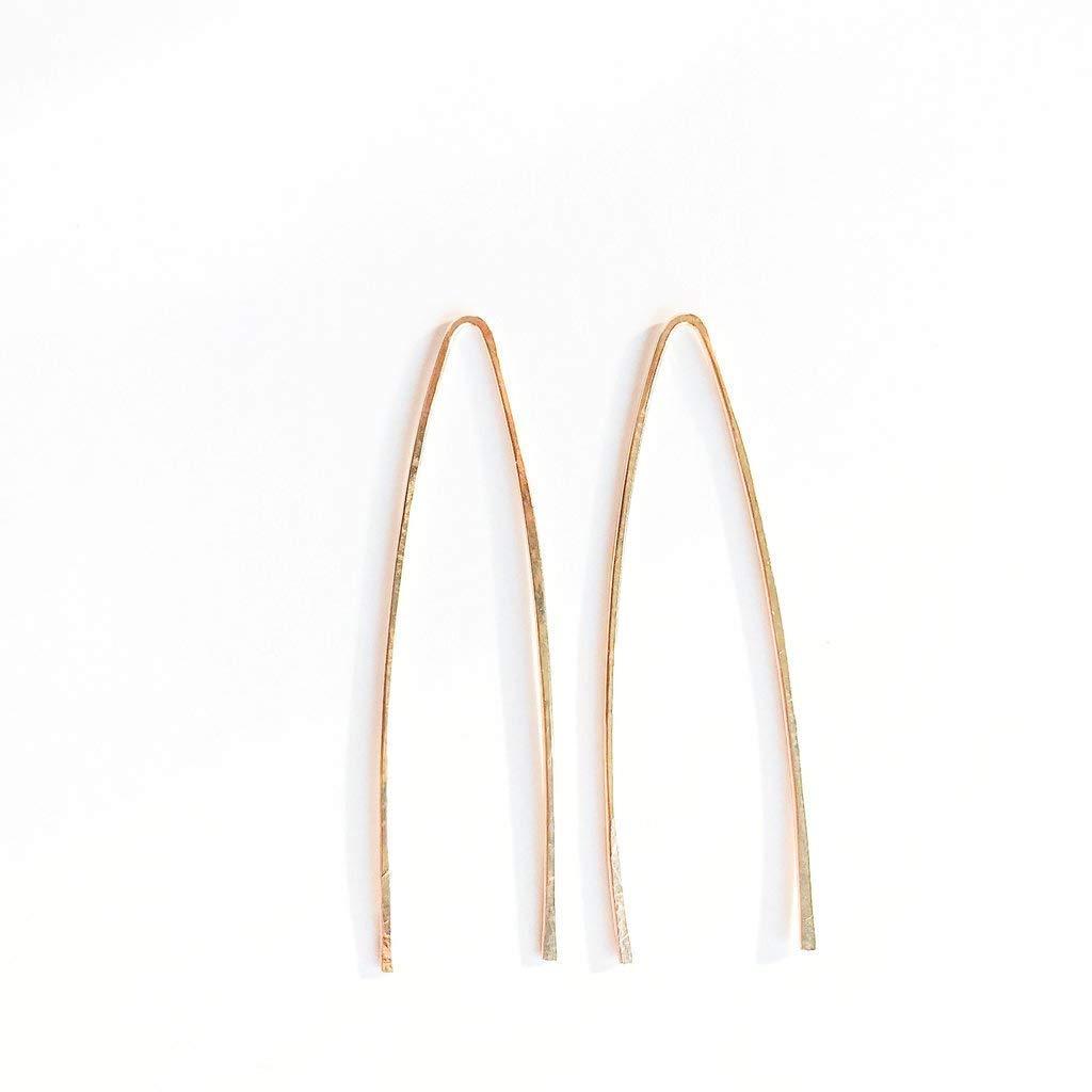 """14kt Gold Filled Tear Shaped Threader Earrings 1 3/4"""" Long"""