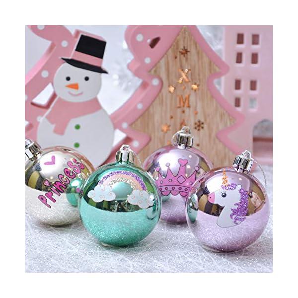 Valery Madelyn Palle di Natale 9 Pezzi 6 cm Palline di Natale, Decorazioni Natalizie Infrangibili Ricoperte di Zucchero Rosa e Oro per la Decorazione Dell'Albero di Natale 6 spesavip