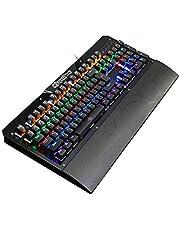 لوحة مفاتيح K26 104 مفاتيح ميكانيكية للوحة مفاتيح ولوحة مفاتيح مع 8 أنماط إضاءة خلفية للكمبيوتر الشخصي