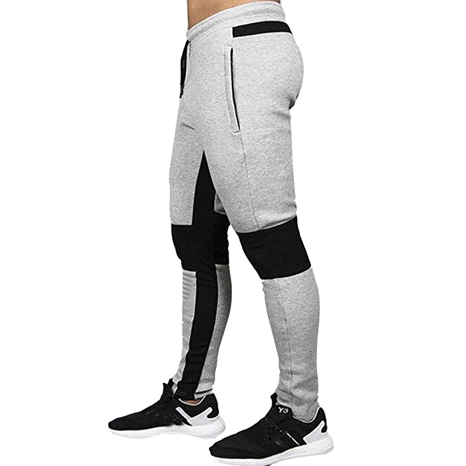 aa01dee72c Lunga Pantaloni Fitness per Uomo - Coulisse Pantaloni Sportivi Tasca ...