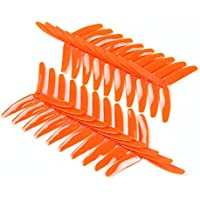 BangBang 10 Pairs Kingkong 5040 5x4x3 3-Blade Single Color CW CCW Propellers for FPV Racer (10 Pairs: Color Orange)