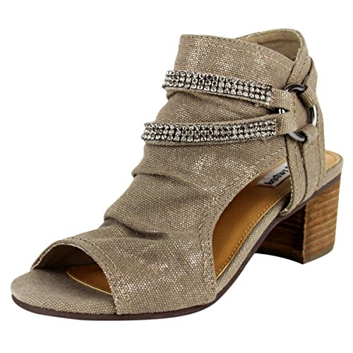 Scarpe Non Votate Nrpp0121 Alma Strass Harness Open Toe Bootie In Taupe