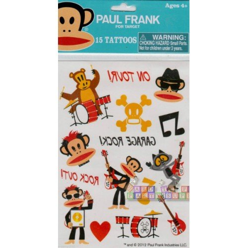 Paul Frank Stickers - Paul Frank 15 Collectible Tattoos