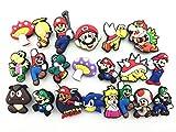 20 Super Mario Shoe Charm Fits Jibbitz Croc Shoes & Bracelets