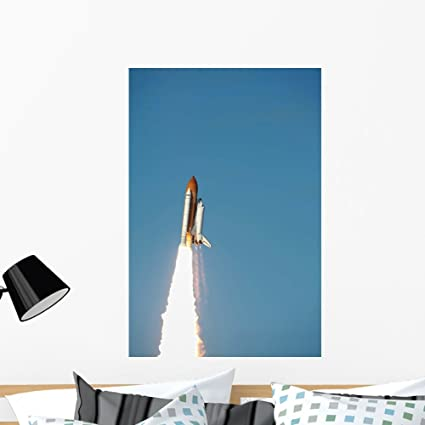 Space Shuttle Atlantis Lifts Wall Mural by Wallmonkeys Peel and