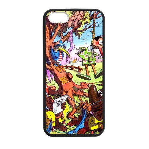 Zyhome iPhone 5,5S Cartoon Pinocchio Pattern Case Cover for iPhone 5,5S TPU (Laser Technology)