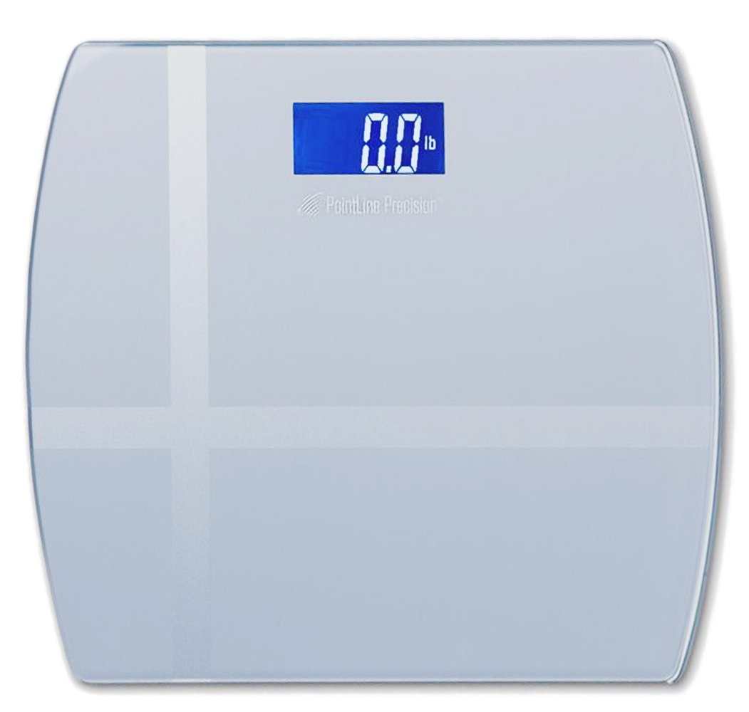 AccuPoint Precision Digital Step-On Body Weight Bathroom Scale, 400 Pound, 11x12-Inch