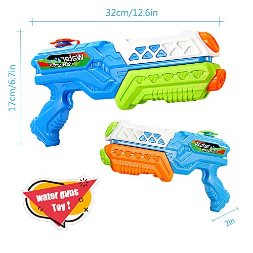 ANDSTON Water Guns for Kids, 2 Pack 600CC Super Squirt Guns Water Blaster Toy Long Range Water Gun Summer Outdoor Swimming Pool Guns Beach Party Favor Shooter Fight Play Toys
