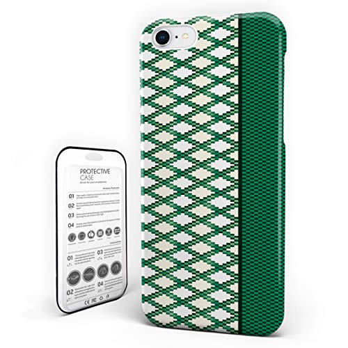 iPhone 7 Case/iPhone 8 Case St. Patrick's Day Design Hard Plastic PC Ultra Thin Protective Phone Case Cover Compatible iPhone 7/8 (4.7 inch) Irish Ireland Green Plaid Mosaic Design