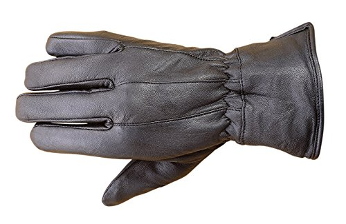 Premium Lambskin Mens Winter Driving Dress Gloves Thermal lined Black FG1 (Lined Lamb Dress Glove)