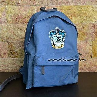 Ravenclaw, bestickter blauer Rucksack mit Ravenclaw-Wappen, Harry Potter Hogwarts