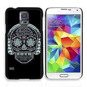 NADIA DaojieTM Music Skull Pattern Hard Plastic Back Case Cover for Samsung Galaxy S5 I9600