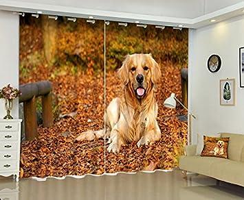Waple Perro Cortinas Ropa De Cama Animal 3D Ventana Sala Backout Cortina Cortina Parasol Para Hotel Availzble Tamaño Personalizado 260X400CM: Amazon.es: ...