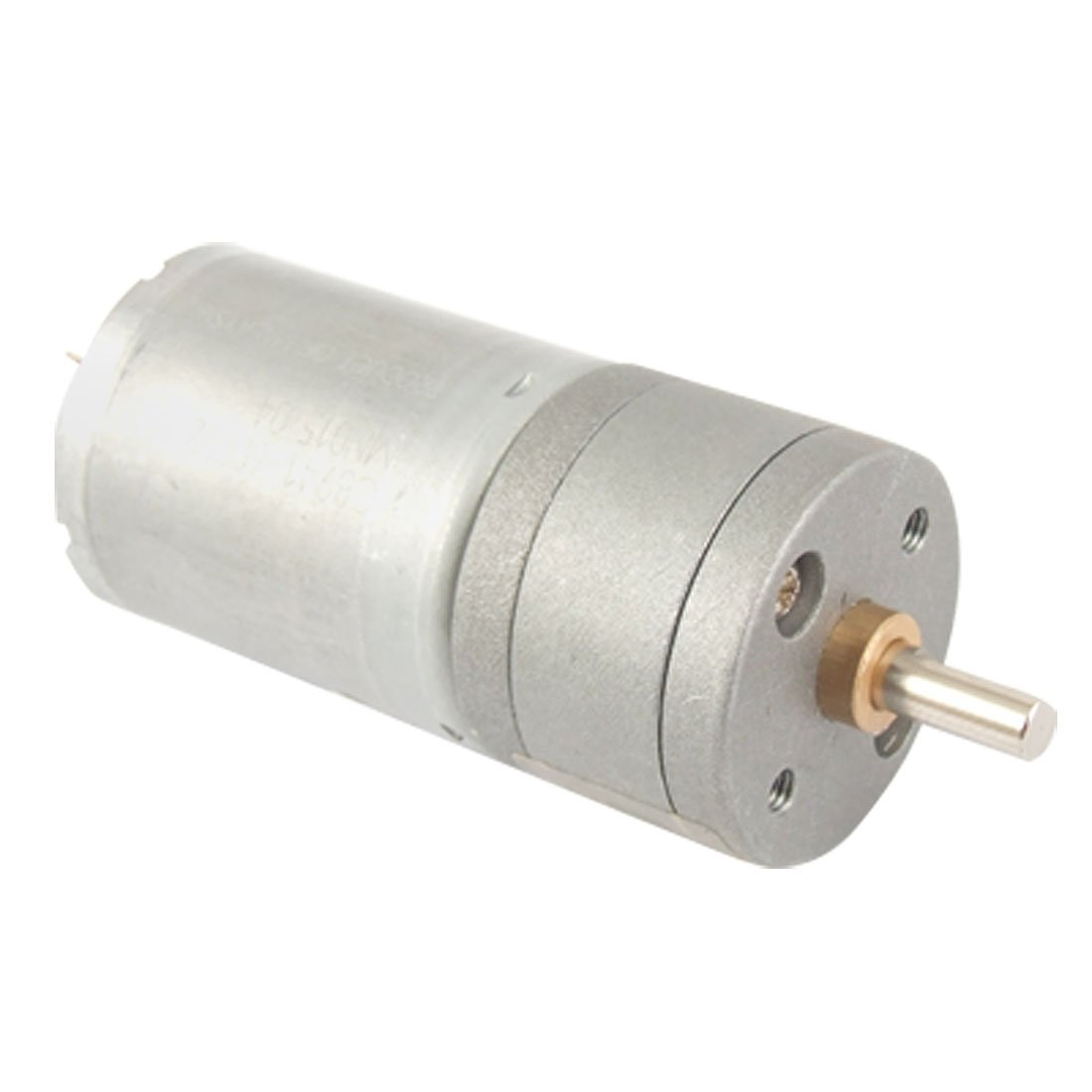 uxcell 12V 40-50mA 400RPM 4mm Shaft 25mm Diameter DC Geared Motor w Gearbox