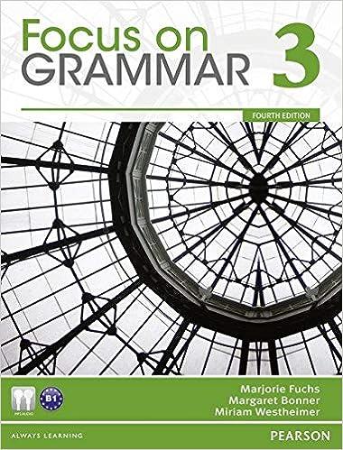 focus on grammar 3 4th edition