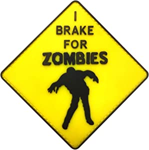 Morton Home I Brake for Zombie 3D PVC Patch (Yellow)