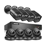 ANNKE 8-Channel HD 1080N Home Security System DVR and (8) 720P Indoor/Outdoor Weatherproof Cameras with IR Night Vision LEDs, Remote Access - NO HDD