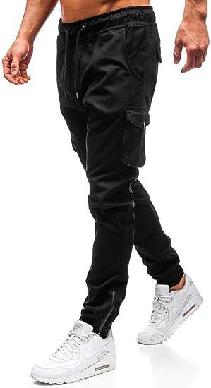 Cindeyar - Pantalones de chándal para Hombre Negro L: Amazon ...