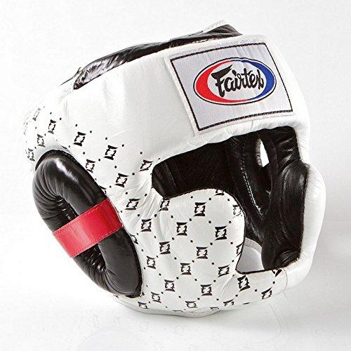 Fairtex hg10スーパースパーリングヘッドガード安全トレーニングボクシングムエタイ ホワイト Large