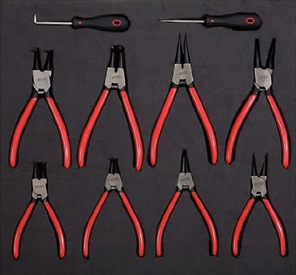KS Tools 815.2370 Pack Bandeja para alicates para Anillos de ...