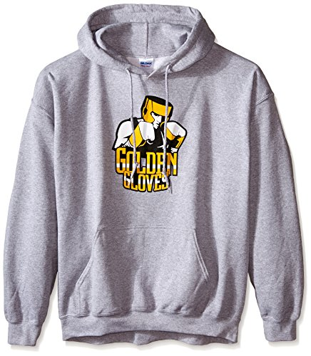 Boxer Adult Hooded Sweatshirt (Golden Gloves Boxers Stance Hoodie, XX-Large)