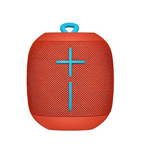 Logitech Ultimate Ears WONDERBOOM Super Portable Waterproof Bluetooth Speaker - Fireball Red(Renewed)