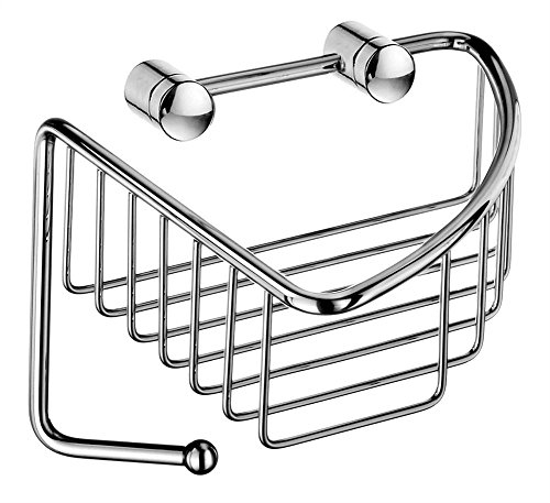 SMEDBO Sideline Corner Soap Basket in Polished Chrome Finish
